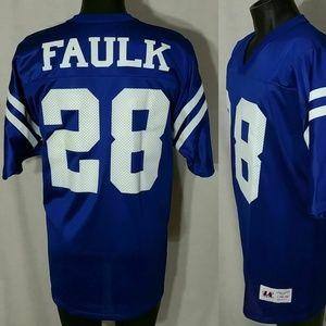 Vintage MARSHALL FAULK Football Jersey Sz L